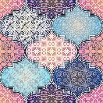 ソフトフローラルの結婚式のパターンのデザインシームレスなパターン