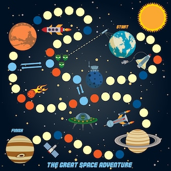Solar system background design