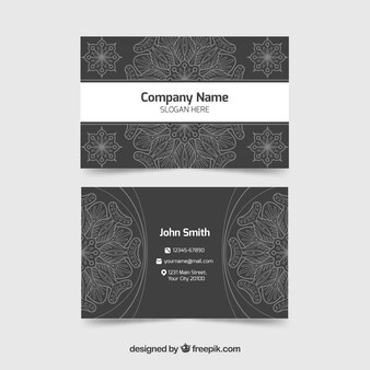 Sophisticated business card with mandala