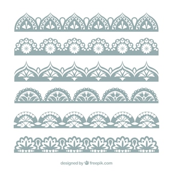 Sophisticated lace borders