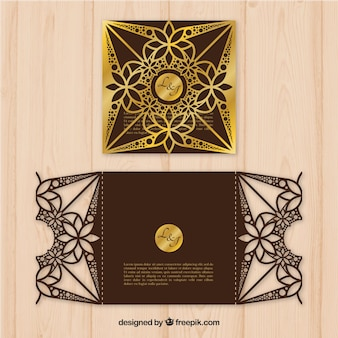 Sophisticated wedding card
