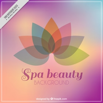 Spa background with abstract flower