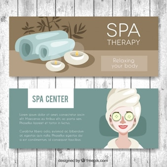 Spa center banners set