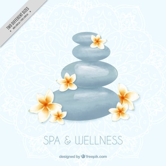 Spa stones background