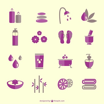 SPA therapy elements icons