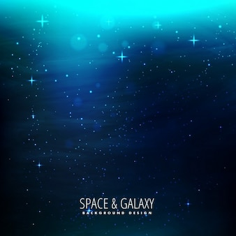 Space background with blue lights