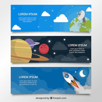 Space banners