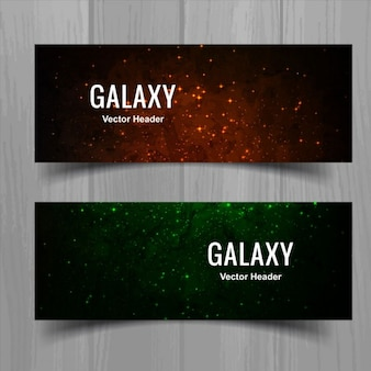Space colored banners