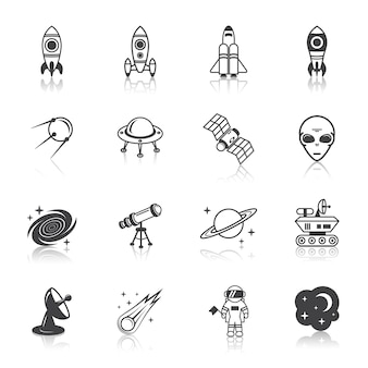 Space elements icons