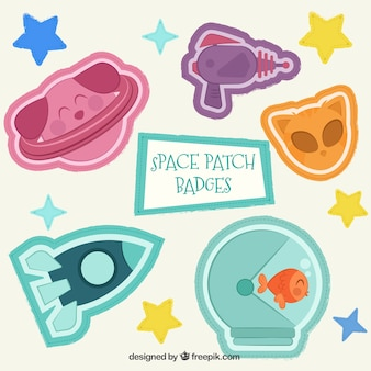 Space themed patches