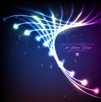 輝く幻想的な幻想的な花火