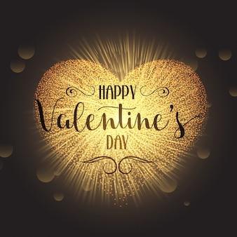 Sparkle heart design for Valentines Day