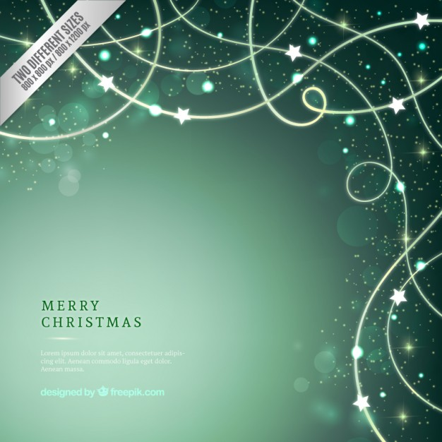 Sparkling green christmas background