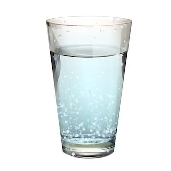 Sparkling water glass