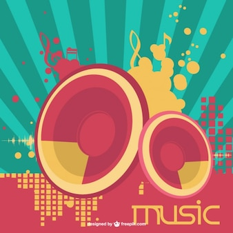 Speakers music vector
