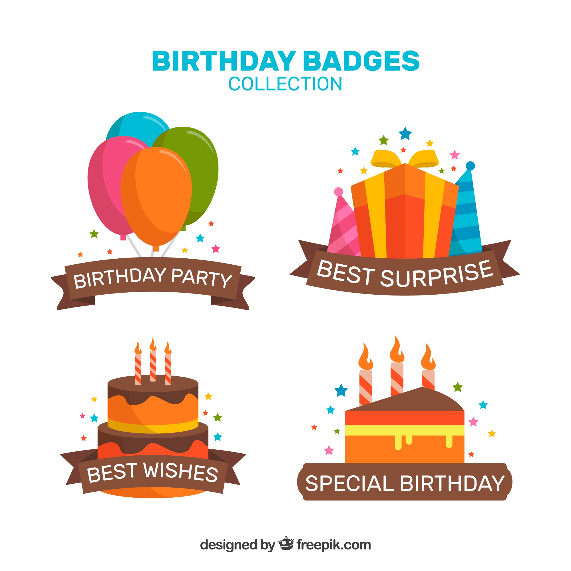 Special birthday badges collection