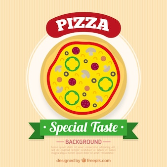 Special flavor pizza background