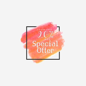 Special sale offer water color background