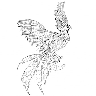 Spectacular ornamental phoenix