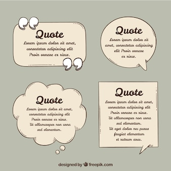 Speech bubble for quote template