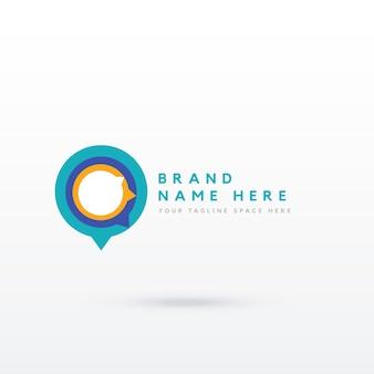 Speech bubble logotype concept
