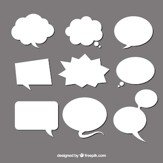 Speech bubble set of different shape