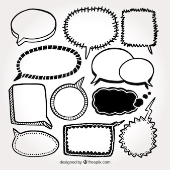 Speech bubbles sketches pack