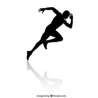 Speed runner silhouette