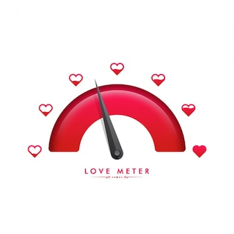 Speedometer background for valentine's day