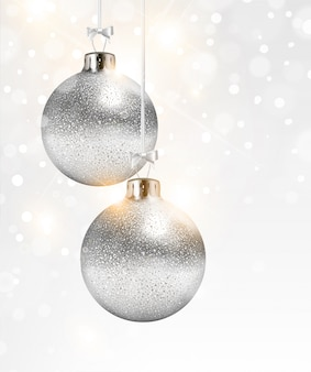 Sphere white decorative ornament year