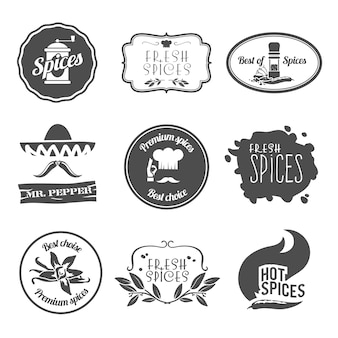 Spice labels collection