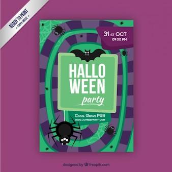 Spiral halloween poster