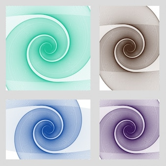 Spiral psychedelic card collection