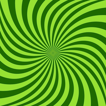 Spiral ray background - vector design from green rotated rays