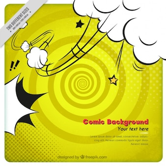 Spiral yellow background with explosion effect