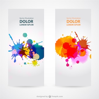 Splash banner sets vector