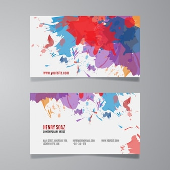 Splash paint business card template
