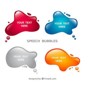 Splashes speech bubbles set