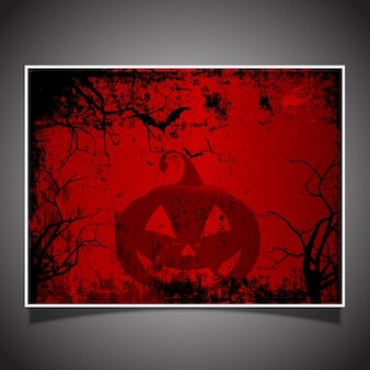 Spooky halloween card with a grunge effect