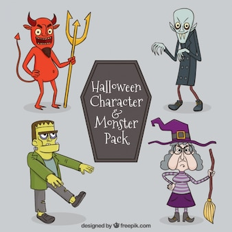 Spooky halloween characters