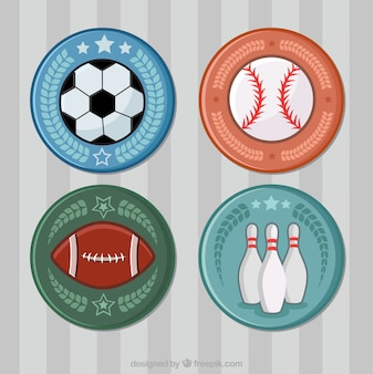 Sport badges set