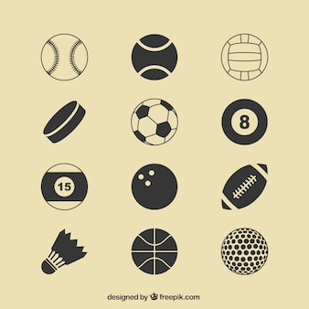 Sport balls icons