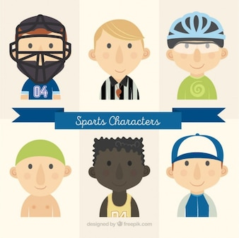 Sport characters with a referee