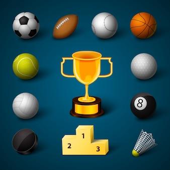 Sport elements collectio