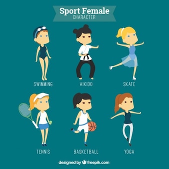 Sport female characters