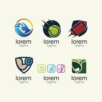 Sport logo templates collection