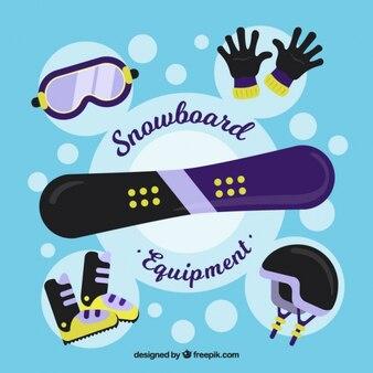 Sport ski elements set