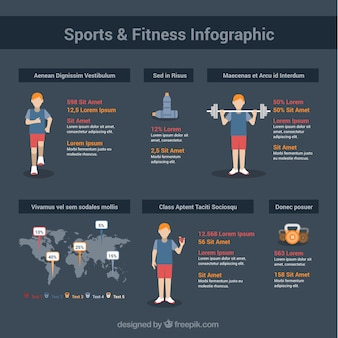 Sports and fitness infographic