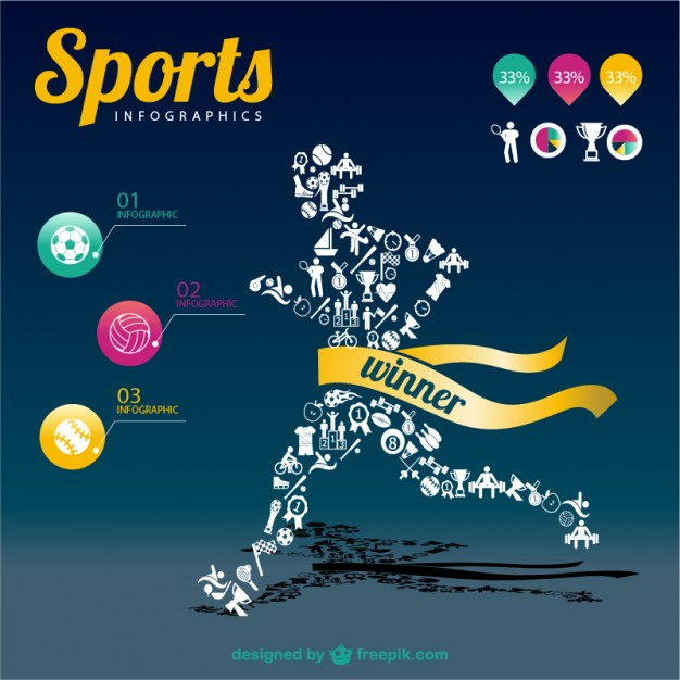 Sports vectors 5 300 free files in ai eps format for Sports infographics templates