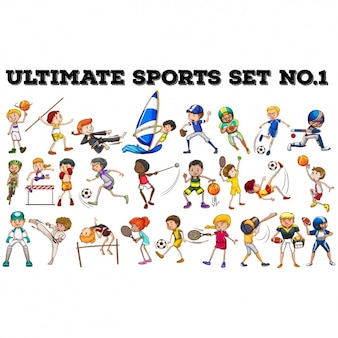 Sports people collection